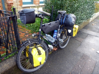 Bike ready to leave London.